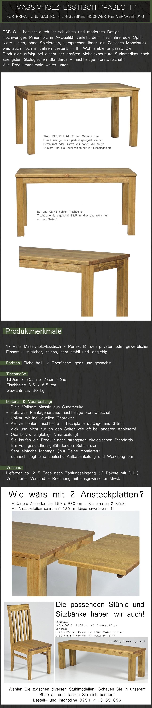 Bezaubernd Esstisch 130x80 Galerie Von Cm Massivholz Esszimmertisch Tisch Massiv
